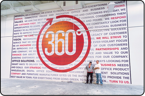 360 Office Solutions Wall Graphics