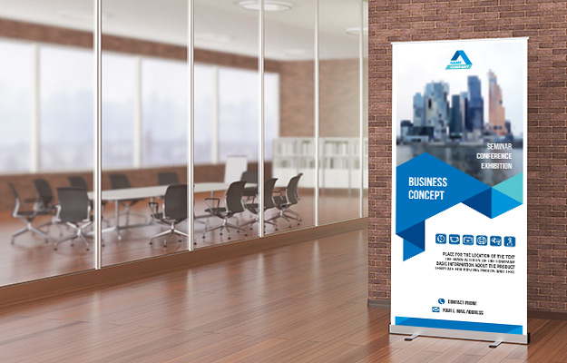 Retractable Banner Up Stands